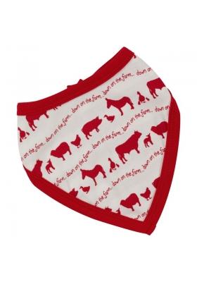 Reversible farmyard bandanna bib