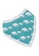 Reversible Elephant Blue Bandanna bib