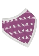 Reversible Bird Purple Bandanna bib