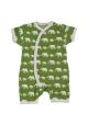 Green Elephant Silhouette Short romper