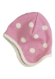 Reversible spotty pink bonnet