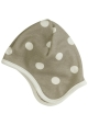 Reversible spotty taupe bonnet