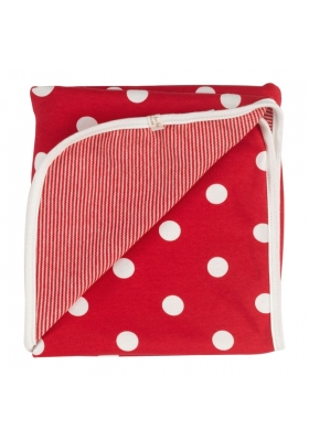 Reversible Spotty Red Blanket