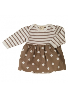 Tree & Tulip body skirt Spotty Taupe