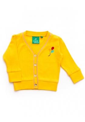黃水仙針織羊毛外套