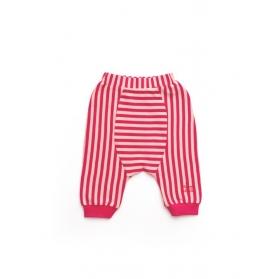 淡粉色直條紋活動褲