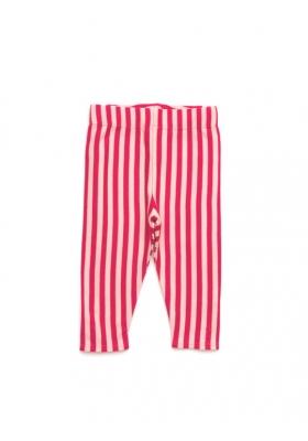 Pale Pink Stripe Leggings