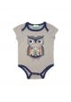Short sleeved bodysuit - Grey Owl
