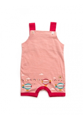 Pale Pink Zeppelins Story time dungarees