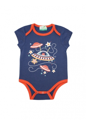 Short sleeved bodysuit - Navy Martian