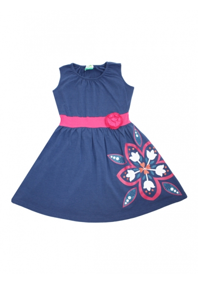 Banded Tank Dress - Floral Navy