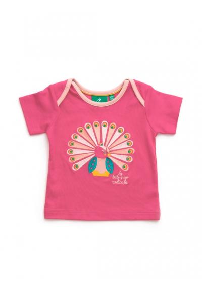 Rose Pink Peacock Short sleeve tee
