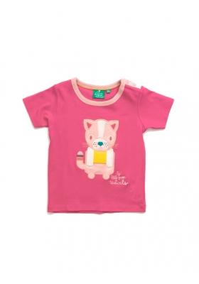 Rose Pink Cat Short sleeve tee