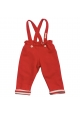Reversible trousers & braces - Red/Stripe