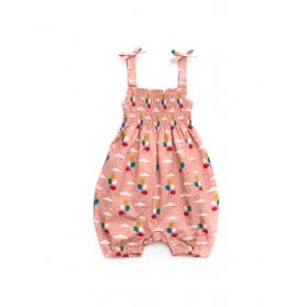 淡粉色輕氣球連身衣