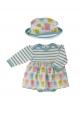Print Skirt & Sun Hat Set - Tulip 0-6M