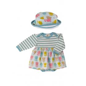 Print Skirt and Sun Hat Set - Tulip 0-5M