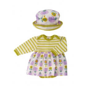 Print Skirt and Sun Hat Set - Leaf 0-5M