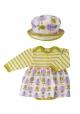 Print Skirt & Sun Hat Set - Tulip 12-18M