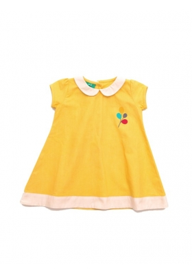 Daffodil Woven balloon dress