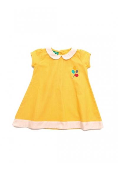 Daffodil Woven balloon dress