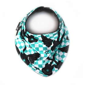 """FLYING GUITARS"" ORGANIC SCARF BIB"