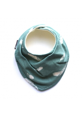 FEATHERS ON MINERAL ORGANIC SCARF BIB