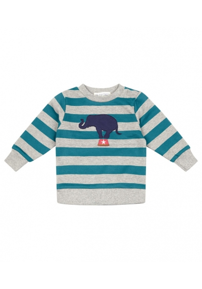 Piet - light grey and teal stripes