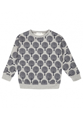 Emma sweat shirt - light grey and trees