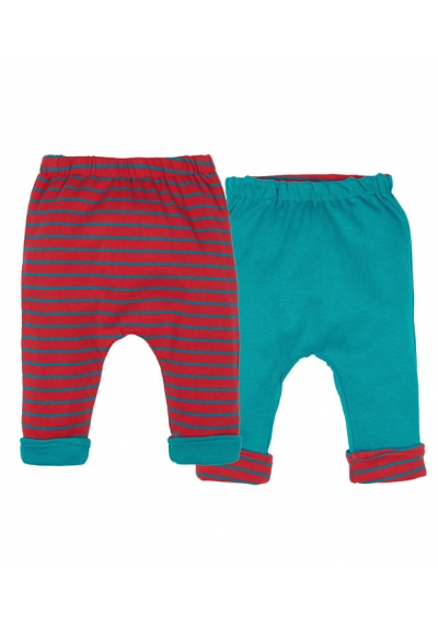 Baker reversible baggy pant red stripe & teal