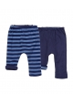 Baker reversible baggy pant - navy and stripes