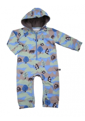 Hooded jumpsuit bruno the bear