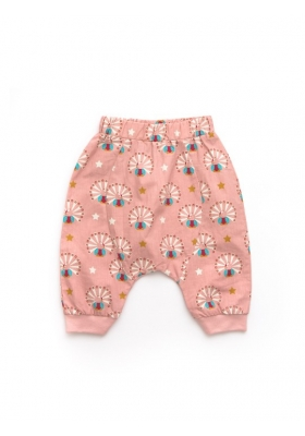 Pale Pink Peacock Jelly Bean joggers