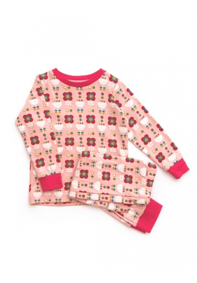 Pink-flowers pajamas